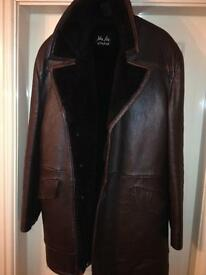 Classic car driving coat , warm , thick collar ,just the job, men's size Large
