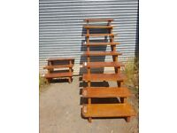 stairs suitable for decking area loft etc. open tread and railings