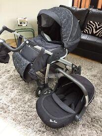 Silver Cross Freeway Pram & Matching car seat
