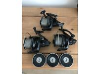 3 x Shimano Ultegra 14000 xtd reels carp fishing