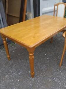 "Oakville Dining Room Table 60""x36""x29""H Light Solid Wood Kitchen Christmas Dinner Sturdy Good Quality NO CHAIRS"