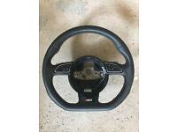 AUDI S3 FLAT BOTTOM STEERING WHEEL 15 REG