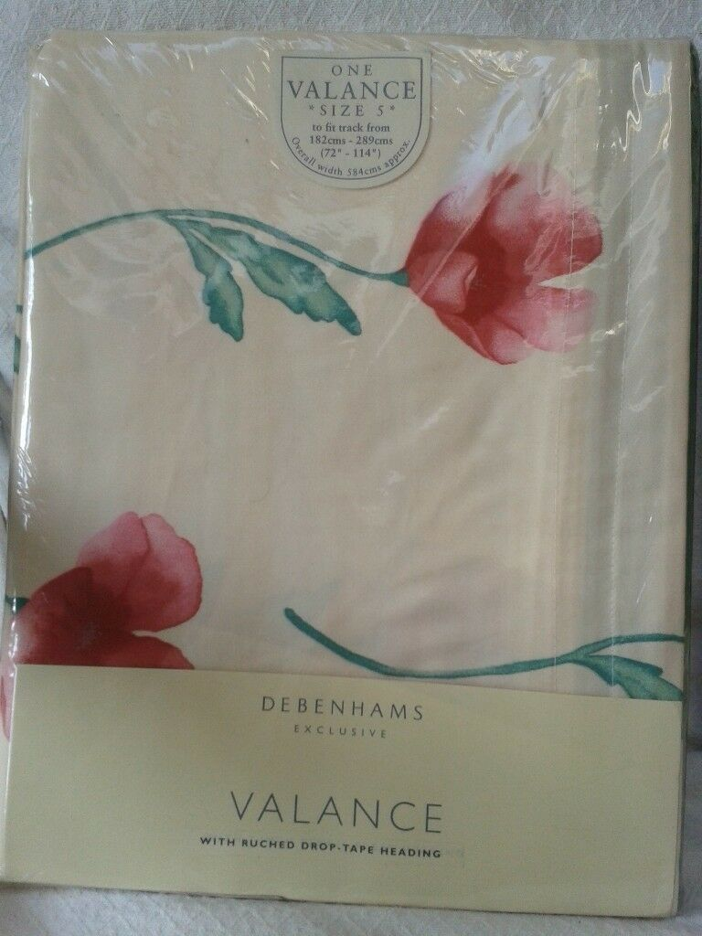 Debenham's ready made Curtains - Poppy design