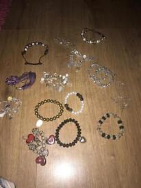 Bracelets and one necklace