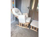 Glider Rocking Nursery Chair & Footstool