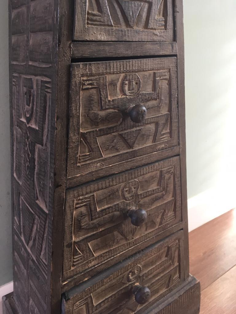 Unique Storage Cabinet Aztec Style