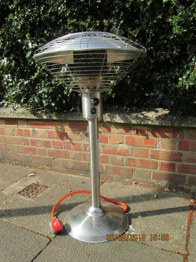 Table Top Patio/Garden Heater with hose, regulator and cover. 4kw ...