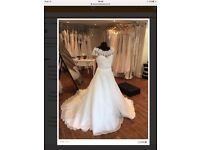 Alan Hannah Nancy Dress size 14 Ivory lace and organza