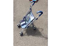 Blue foldable push chair