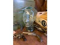 Vintage glass Manequin display head