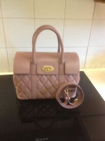 Small mulberry Bayswater handbag in dusky pink