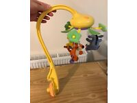 Used Tomy Winnie the Pooh Swing Time Cot Mobile - like brand new, used for a month