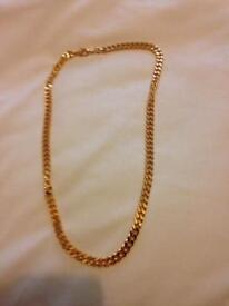 Gold plaited chain 22""