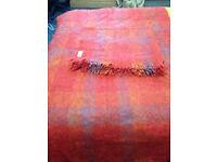 2 VINTAGE Mohair/Wool Blankets/Throw/Textile/Bedspread Andrew Stewart