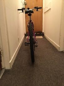 Ladies Venture Crystal - Oversize MTB. Owner outgrown bicycle, adjustable helmet included.