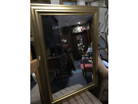 Pretty Large Antique Style Wooden Gilt Framed Mirror
