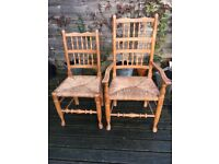 Vintage Spindle Back Country Dining Chairs x Six