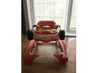 Racer car baby walker