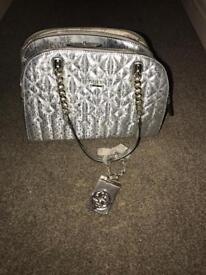 Guess silver handbag