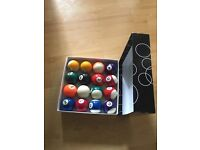 Sports and stripes 2 pool ball set 16 pieces in excellent condition