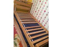 Real oak guest bed.