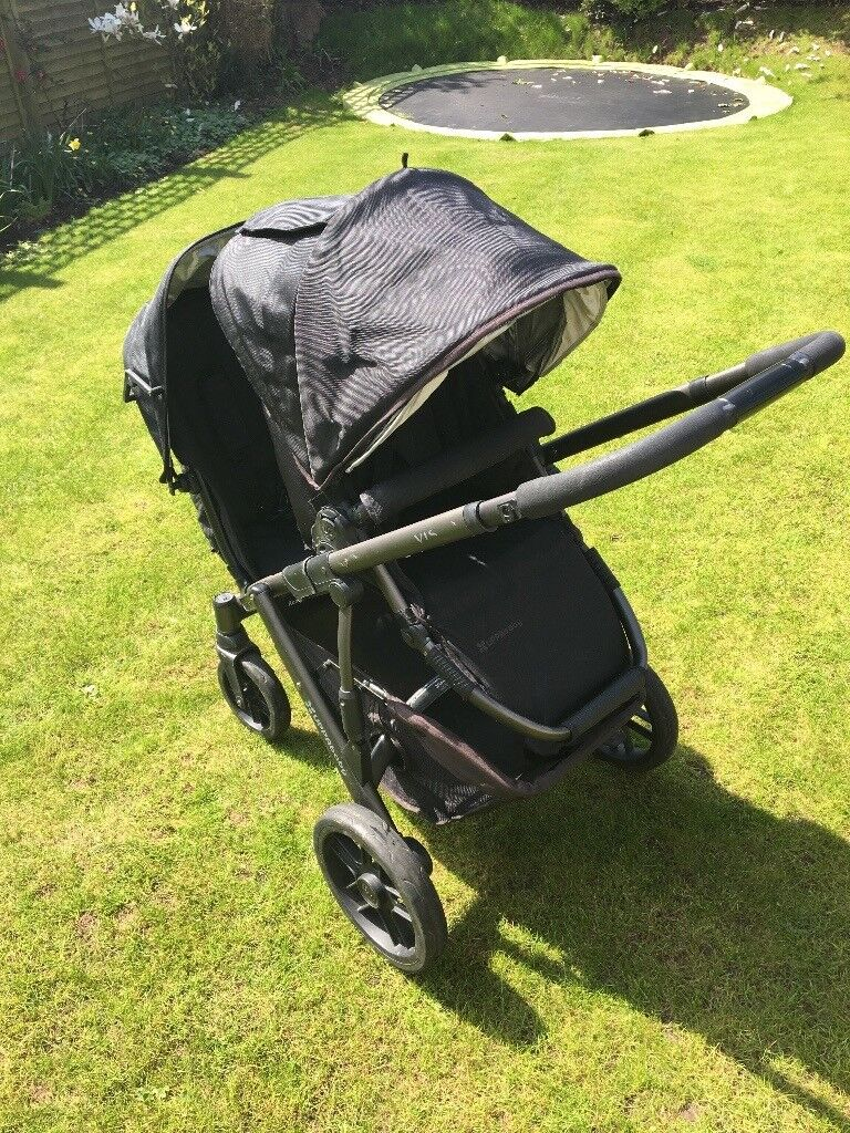 UPPA baby Vista Pushchair and Carrycot, Black