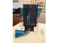 Waterford crystal Eclipse champagne flutes
