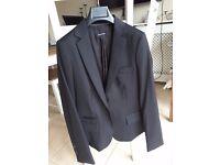 Massimo Dutti womens smart trouser suit size 10 dark blue