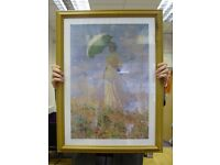 Monet Inspired Picture of an ELEGANT LADY holding an Umbrella