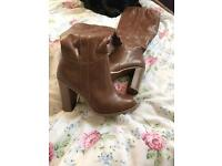 Brown boots size 3