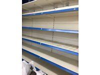 Off licence shop fridge freezer and shelves