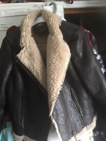 Saki ladies leather jacket size 12