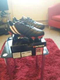 Black/White Junior Rugby Boots