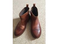 Girls Zara Brand New Leather Ankle Boots Size 2.5