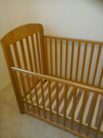 Cosatto drop side cot - as new