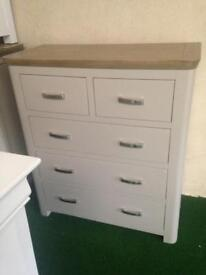 Beautiful grey and smoked oak 2over3 chest £399