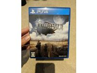 Final Fantasy XV PS4 - Japanese copy, can be played in English. Good condition