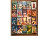 Large selection of kids VHS videos