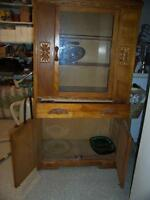 CHINA CABINET FROM 1940'S OR 1950'S