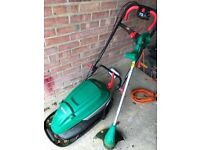 Qualcast lawnmower and strimmer fully working