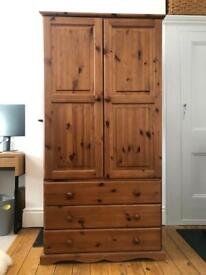 Solid pine double wardrobe in a good condition