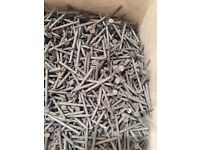 BRAND NEW large tub of galvanised nails. Perfect for DIY shed fence hut garden wood etc