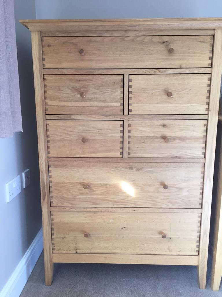 Willis Gambier Spirit Solid Oak Bedroom Set Two Chest Of Drawers And