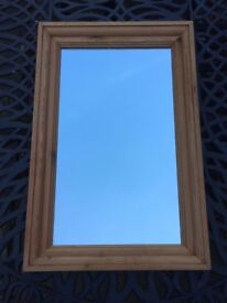 Mirror in solid wood frame