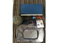 Campingaz camping chef stove with gas bottle, regulator and carry case