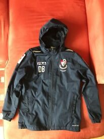 Hooded Rain Jacket with Bournemouth Football Club logo Size Large Junior