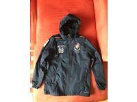 Hooded Rain Jacket with Bournemouth Football Club logo Size Large Junior