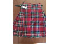 Kilt - Royal Stewart tartan - Brand New size 30-32 with tags