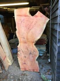 Large Pippy Yew Live Edge Wood Timber Slabs