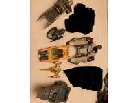 Star Wars collection of 6 x various ships and vehicles